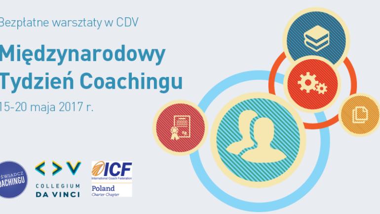 Coaching Week Poznań-bezpłatne warsztaty. Spotkajmy się 16 maja o 18:00:)